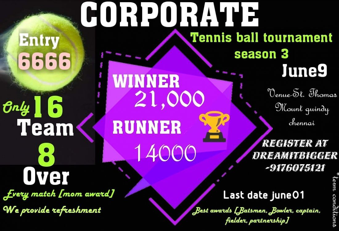 Corporate tennis ball tournament season 3