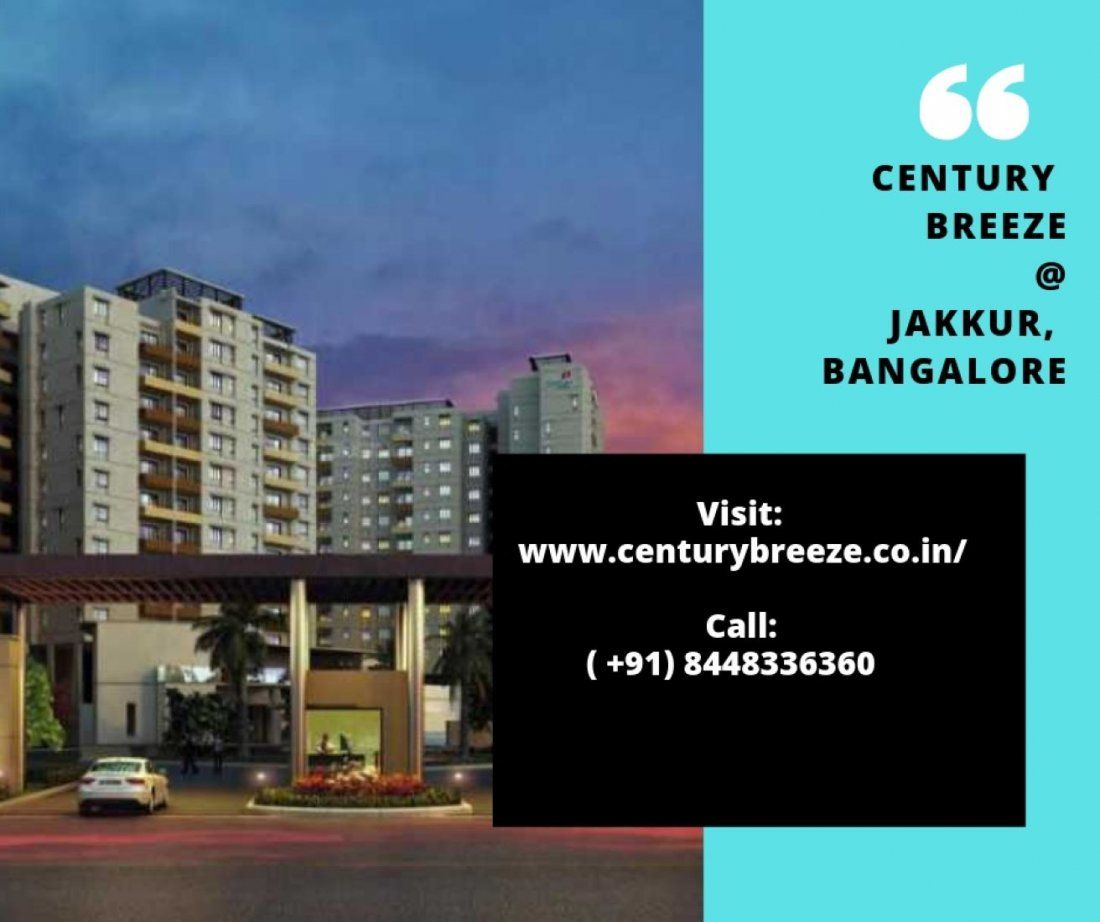Century Breeze in Bangalore  Apartments for sale in Jakkur