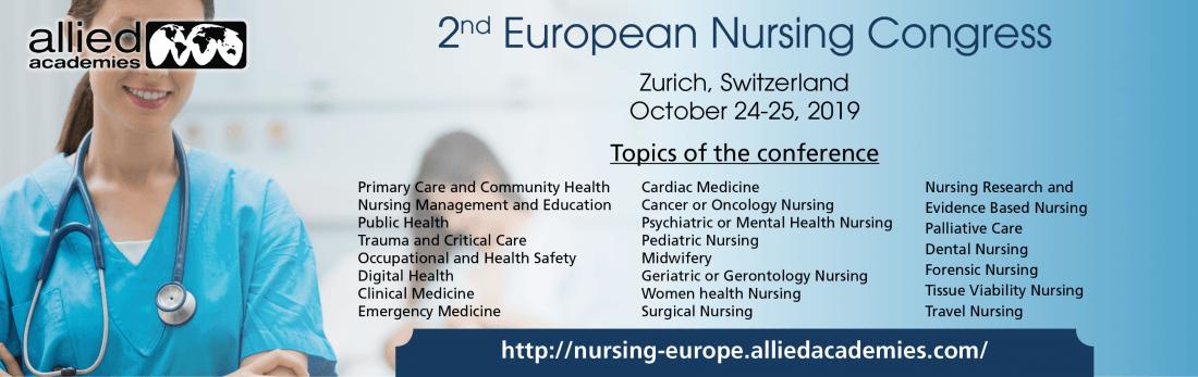 2nd European Nursing Congress at Hilton Zurich Airport, Zurich