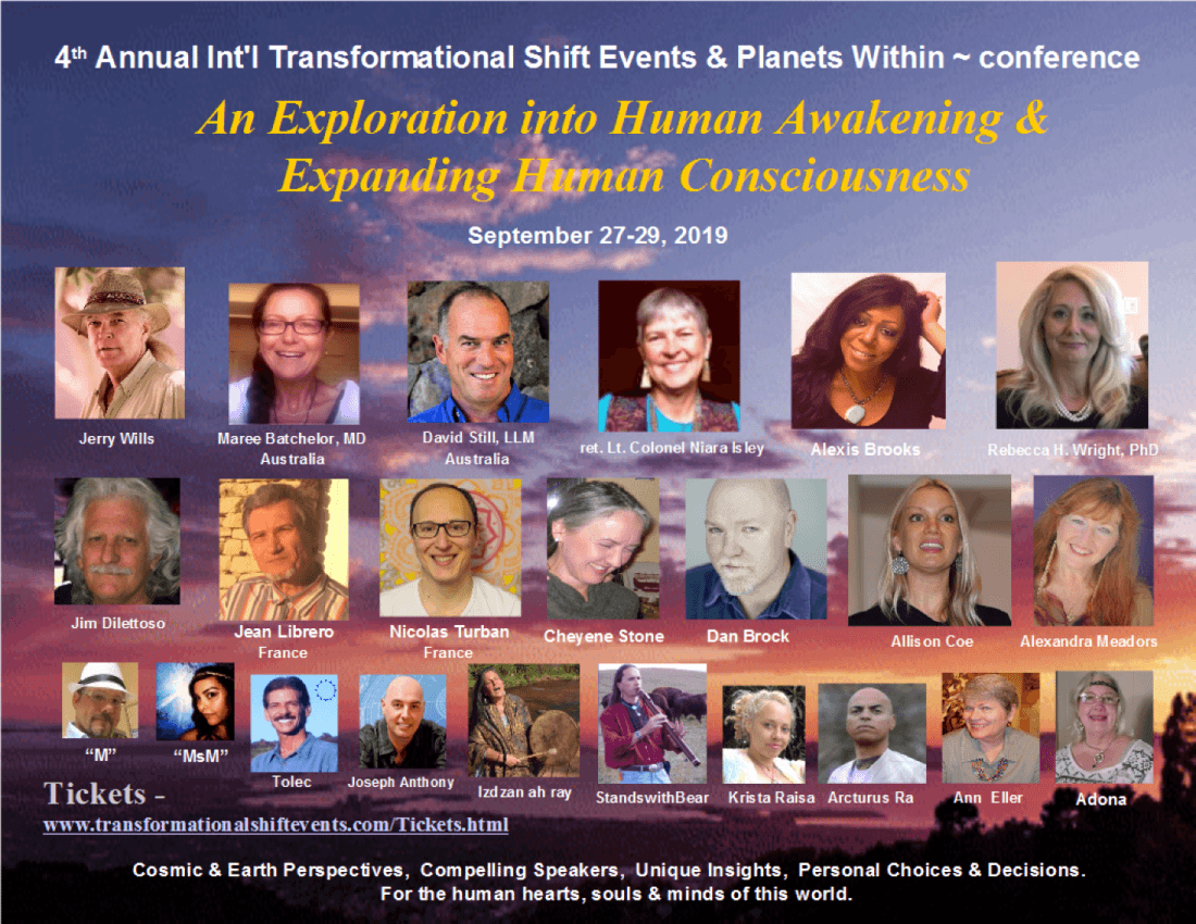 4th Annual Intl Transformational Shift Events & PlanetsWithin Conference