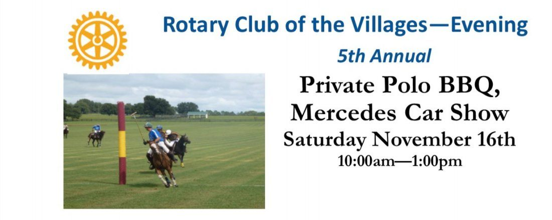 Rotary Club of The Villages Private Polo BBQ Mercedes Car Show