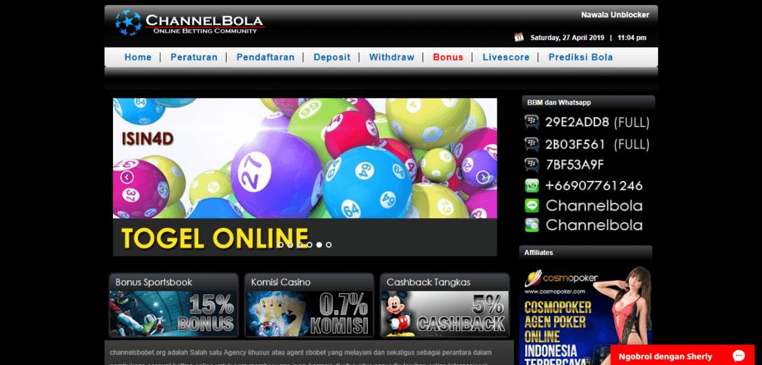 ChannelSBOBET l Situs Agen Bola SBOBET Online Terpercaya ...