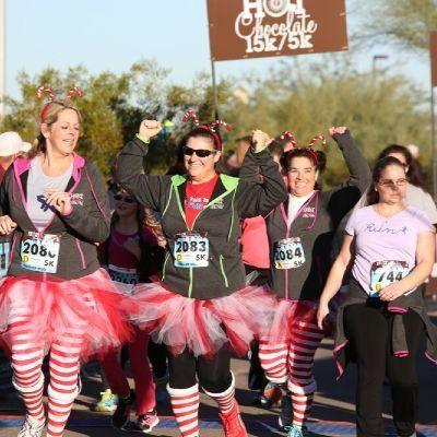 Hot Chocolate15k Run in Scottsdale Arizona