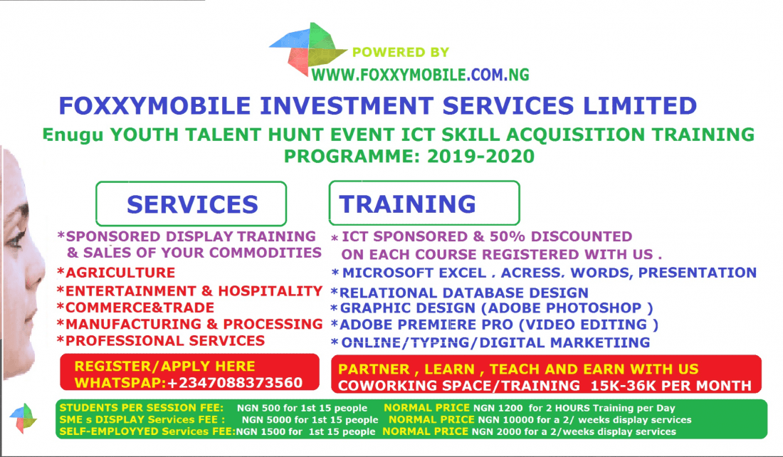 Nigeria Enugu Youth Talent Hunt Event Foxxymobile ICT Skill