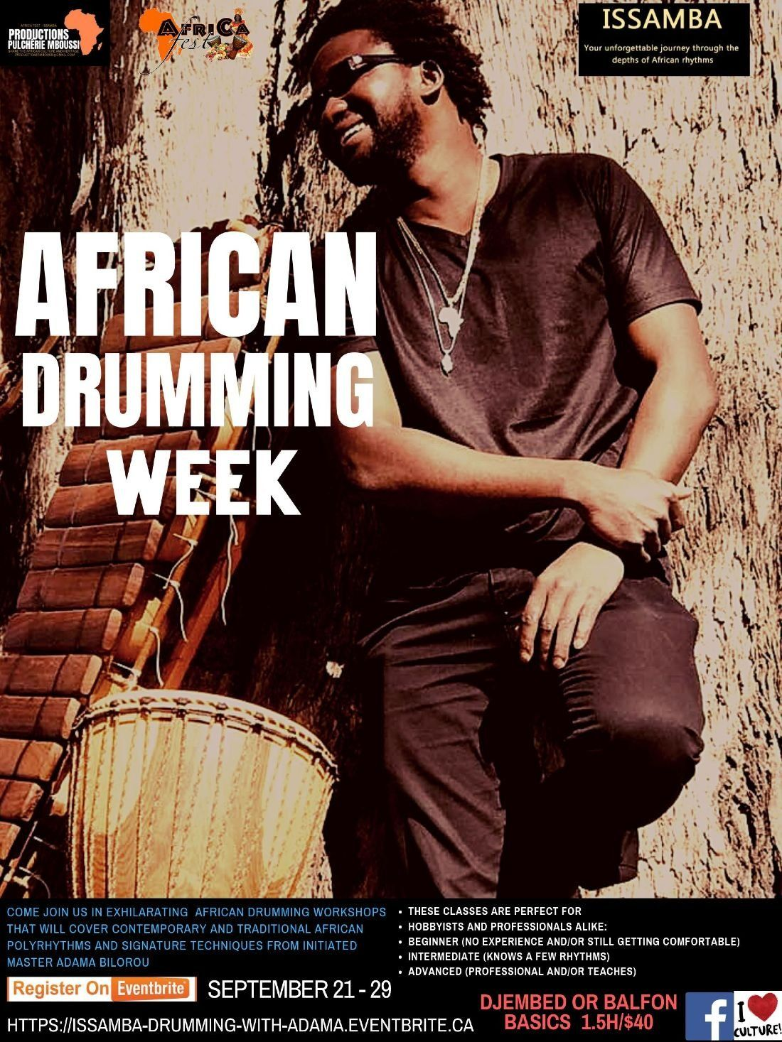 African Drumming Week at Casablanca Cafe, VICTORIA