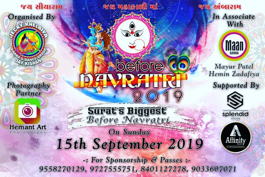 Before Navratri - 2019 By Jecky Khelaiya Group