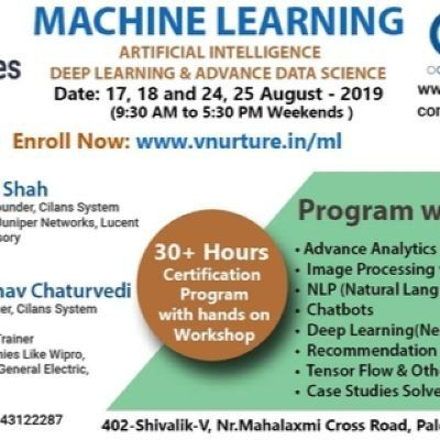 Data Science,Machine Learning and Deep Learning Hands On Workshop at