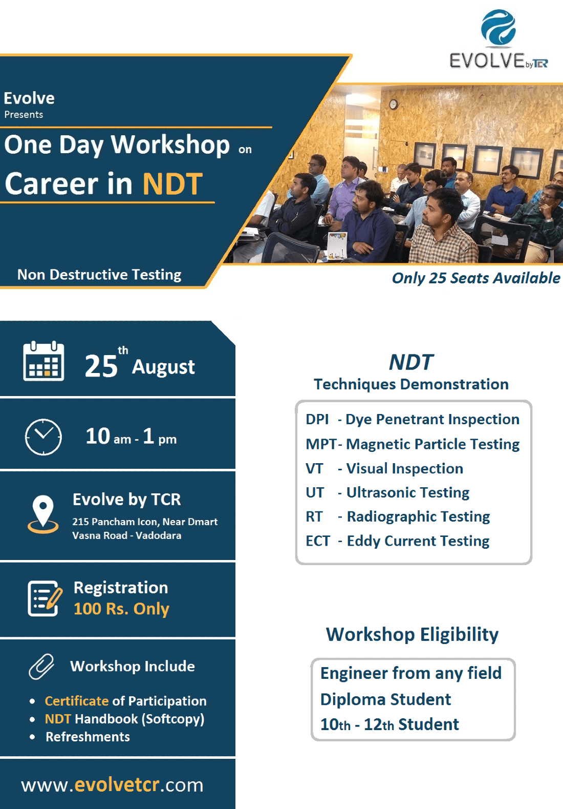 Career In NDT - One Day Workshop  25th August