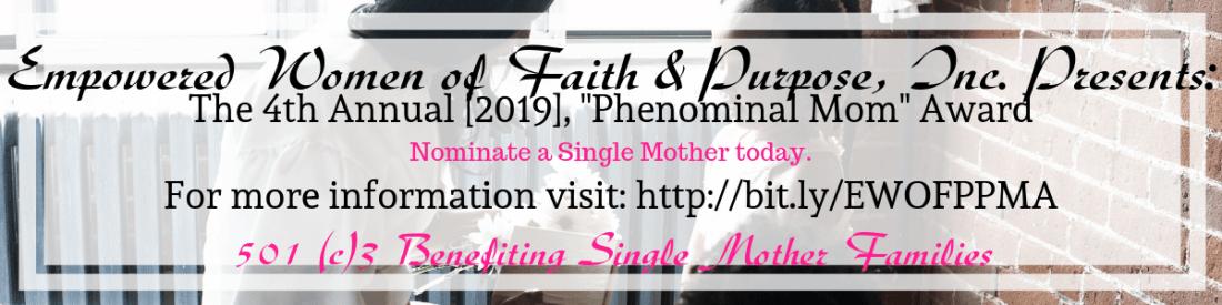 Annual 2019 EWOFP Phenomenal Mom Award