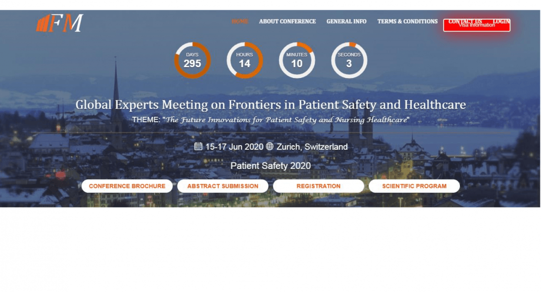 Global Experts Meeting on Frontiers in Patient Safety and Healthcare