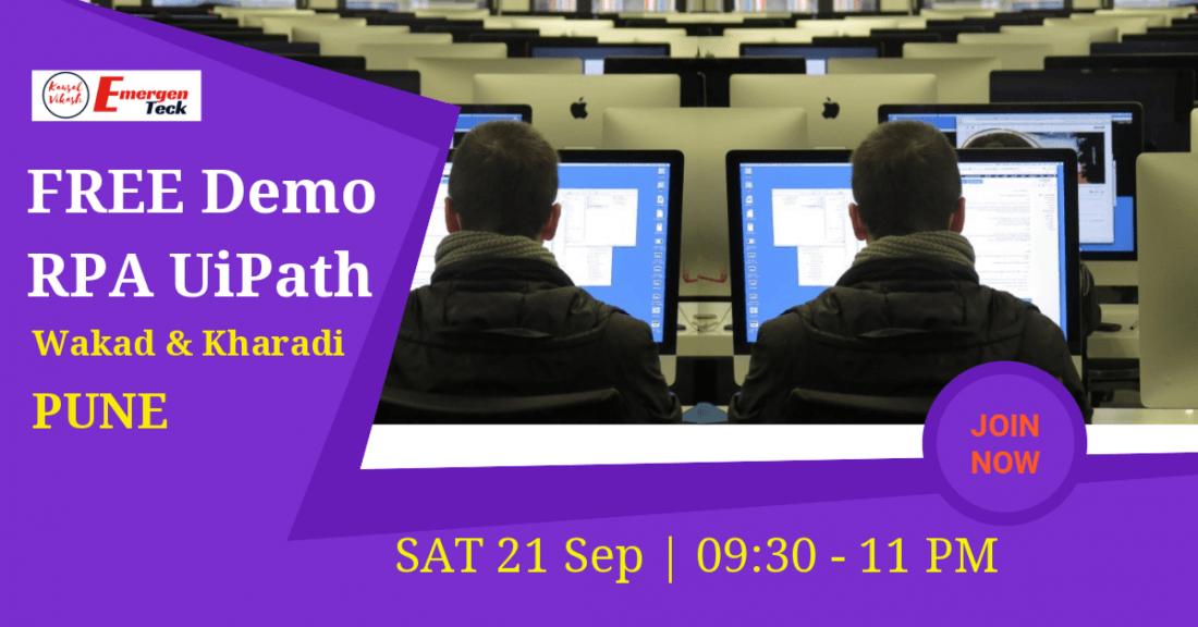 Free Demo | RPA UiPath | Sat  21 Sep | 9:30 AM – 11 AM
