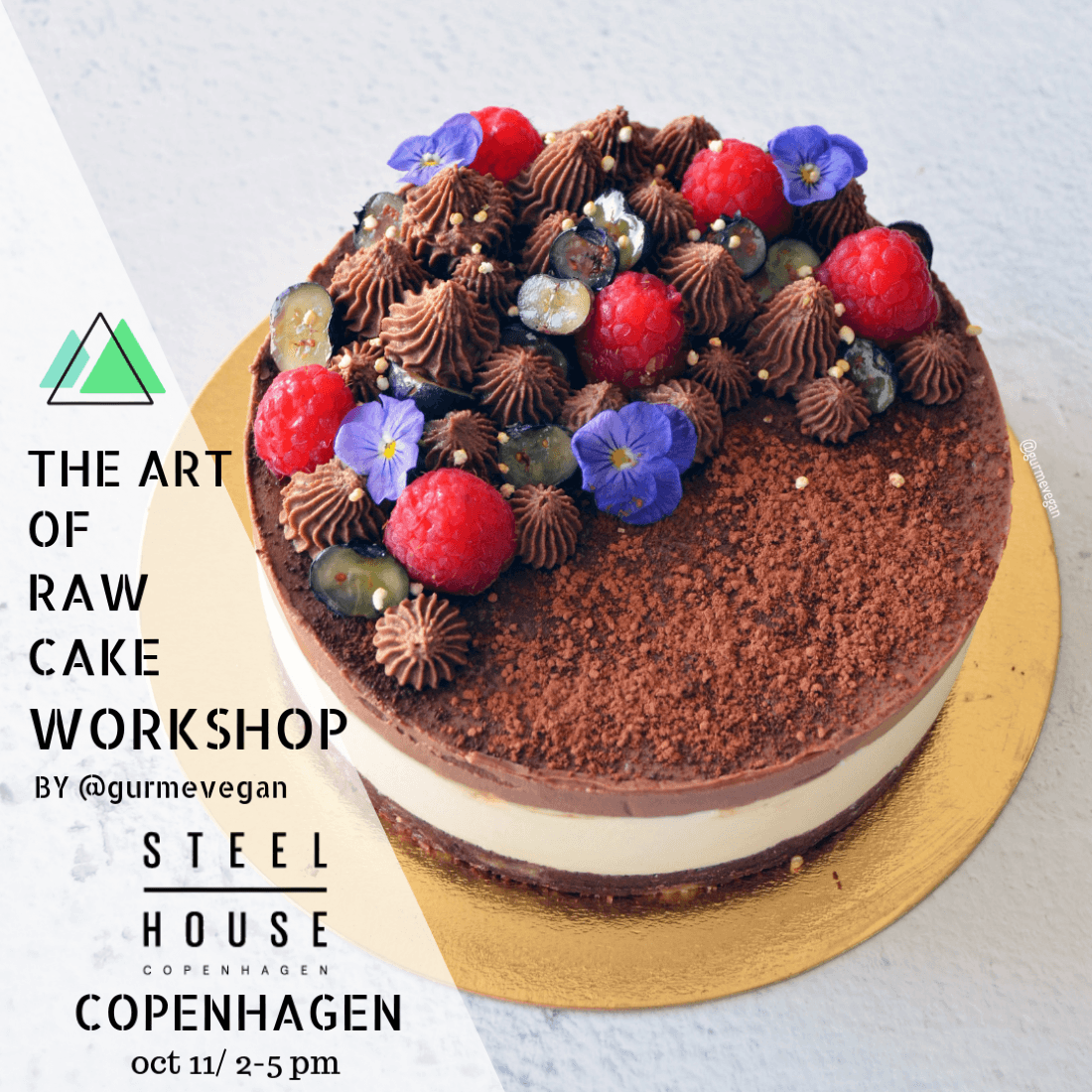 THE ART OF RAW CAKE WORKSHOP IN CPH