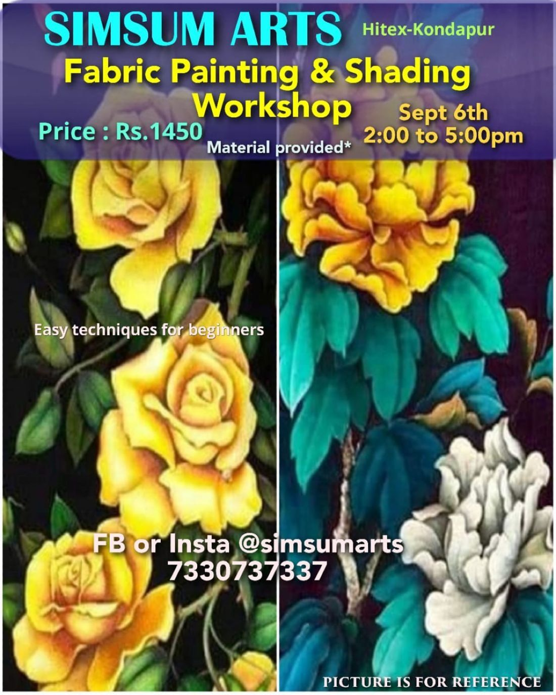 Fabric Painting and Shading Workshop at SIMSUM ARTS GALLERY