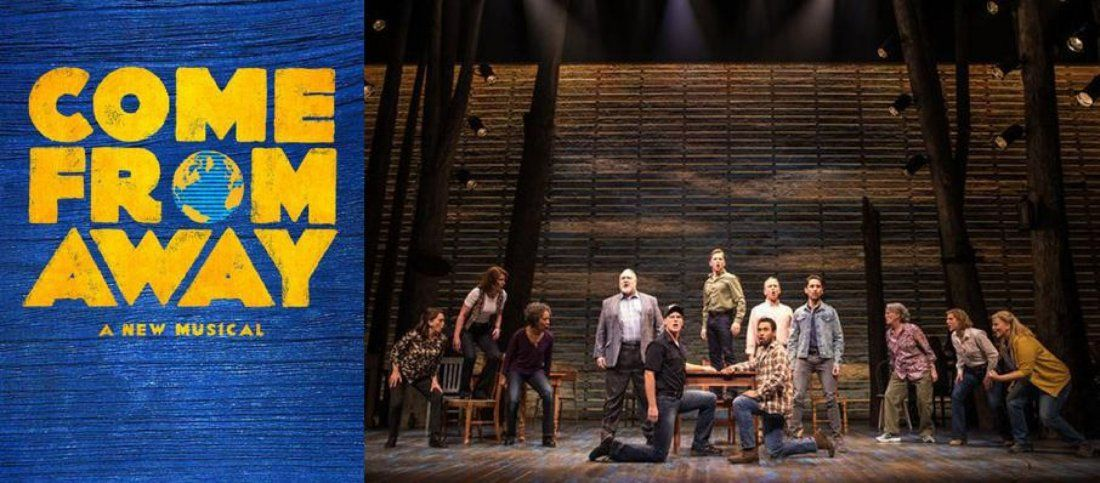 come from away logo and still.
