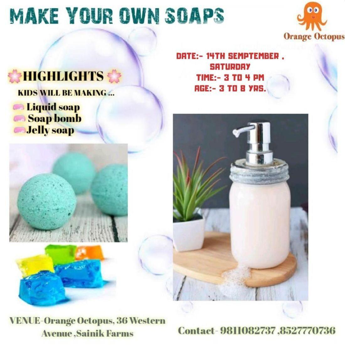 Soap Making Workshop at Orange Octopus, New Delhi
