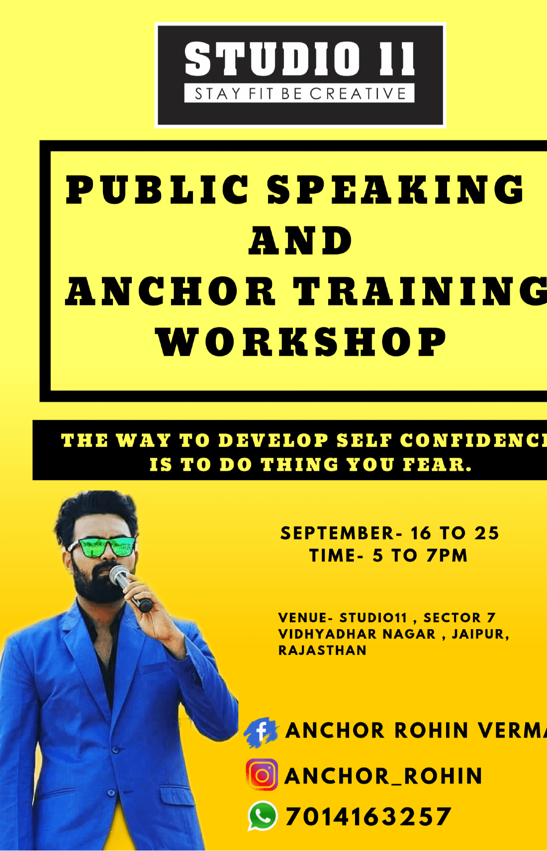Public Speaking And Anchor Training workshop at Vidhyadhar