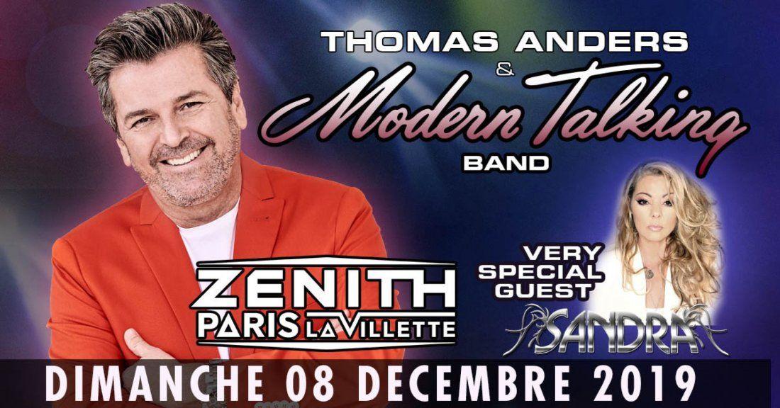 Thomas Anders & Modern Talking Band & Sandra au Zenith de Paris