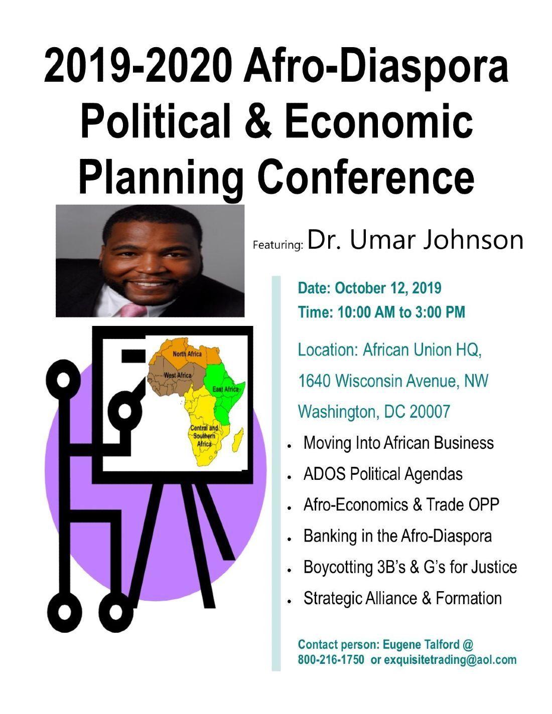 2019-2020 Afro-Diaspora Political & Economic Planning Conference