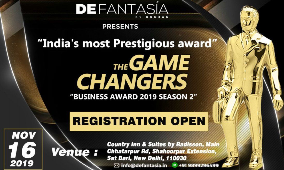 Indias most prestigious Game Changers Business Awards 2019 8th Edition
