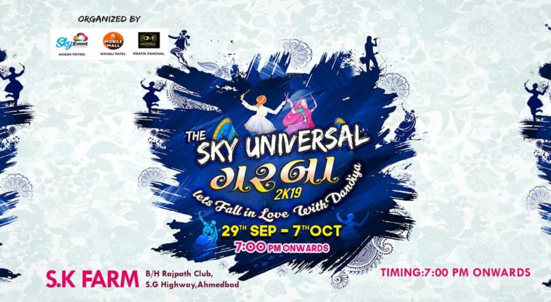 The Sky Universal Garba (29 Sep - 7 Oct)
