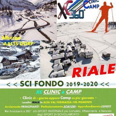 XC SKI CLINC & CAMP (SCI FONDO) < inizio di STAGIONE 2019-2020 a RIALEVal Formazza (VB) Piemonte >