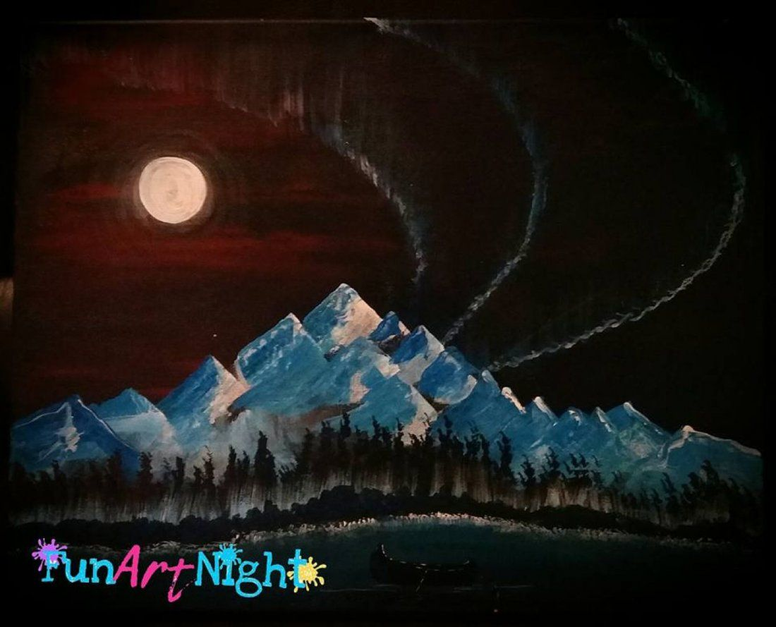 Paint and Pints Northern Nights in Staunton