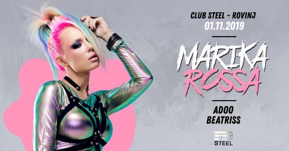 Marika Rossa TechnoHalloweenParty November 1st at SteelRovinj