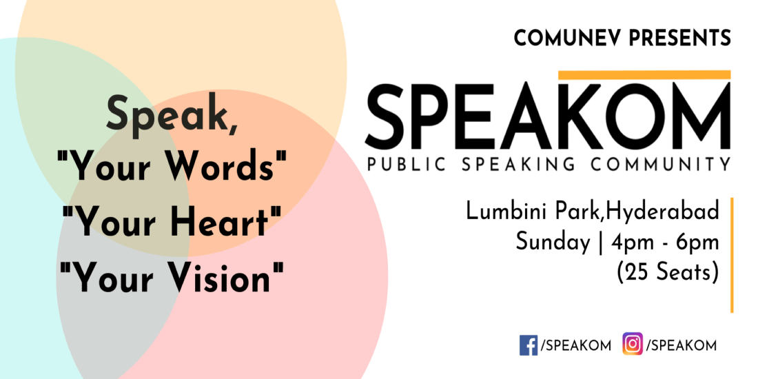 Speakom Hyderabad - Public Speaking Community   Event in Hyderabad   AllEvents.in