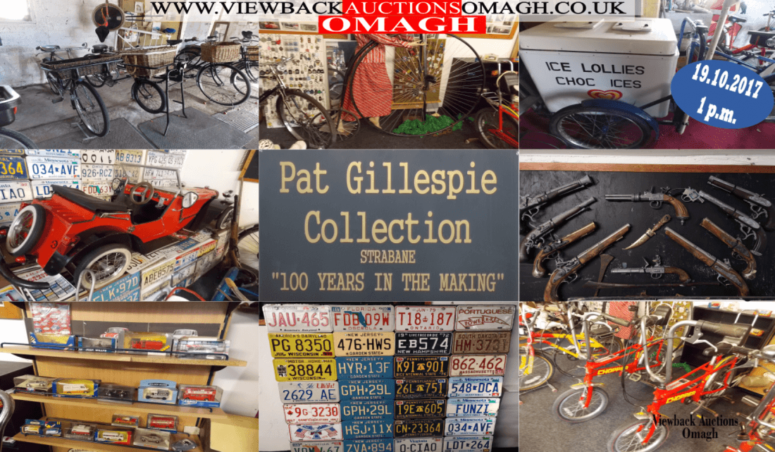 Important collection of vintage bicylessome motoring memorabilia