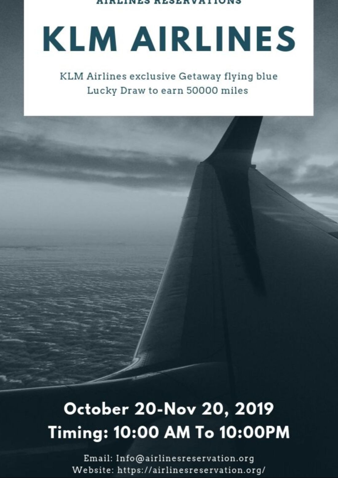 KLM Airlines exclusive Getaway flying blue Lucky Draw to earn 50000 miles