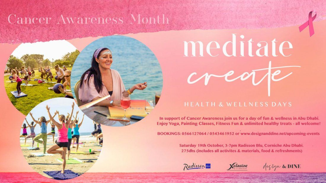 Meditate Create - Wellness Day for Cancer Awareness