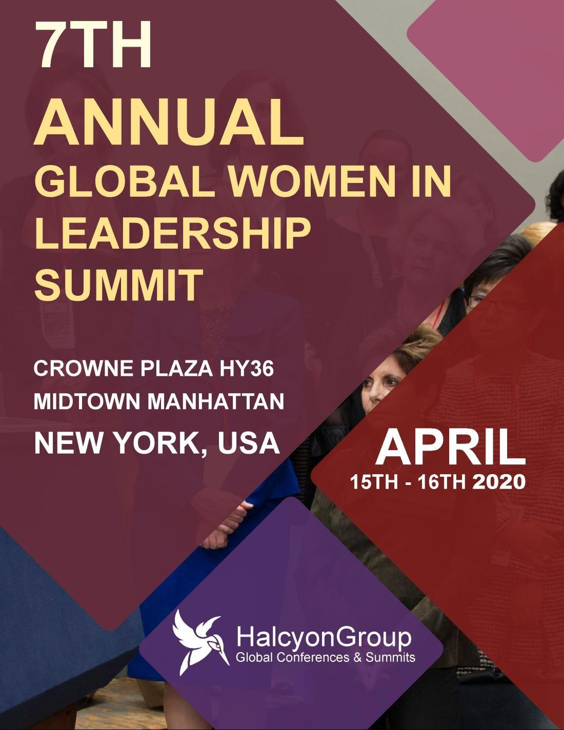 7th Global Women in Leadership Summit April 15th -16th 2020 New YorkCrowne Plaza