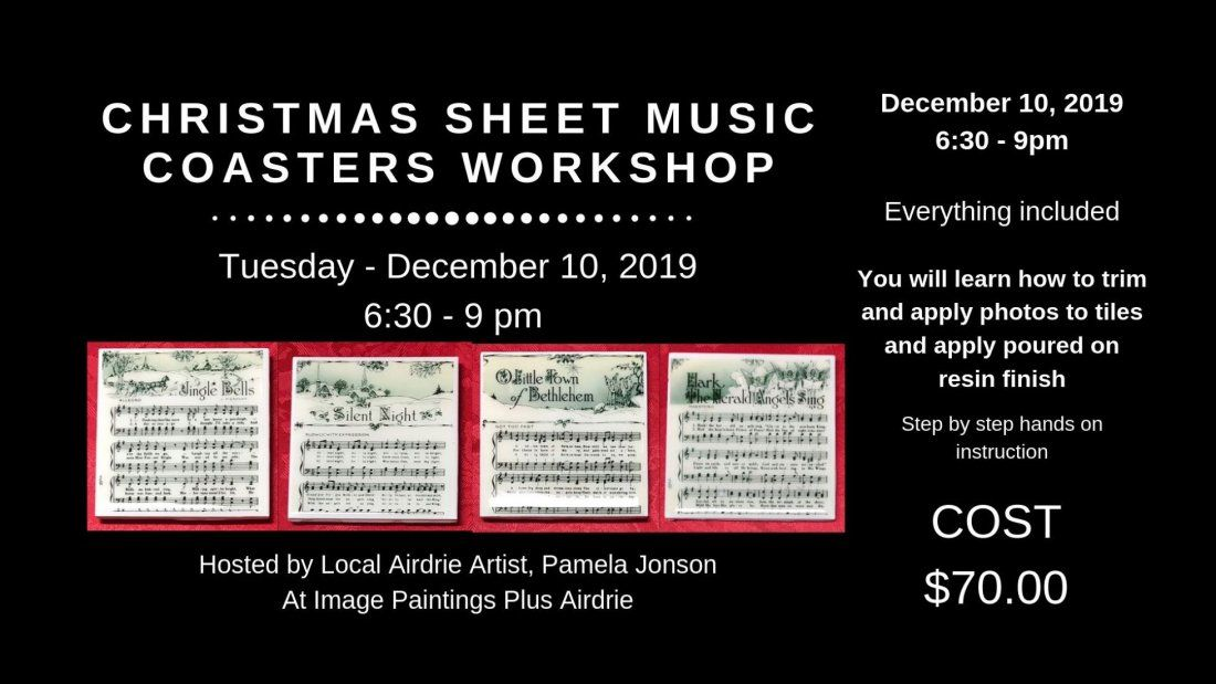 Christmas Sheet Music Coasters