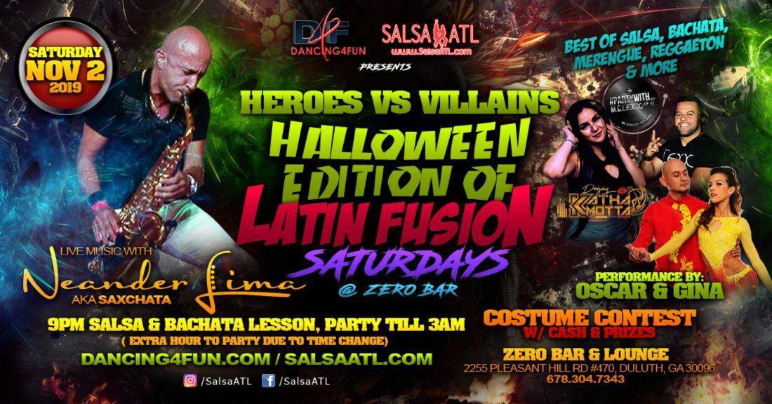 Duluth Halloween Events 2020.Halloween Heroes Vs Villains Costume Party Atlanta Zero