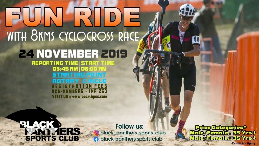Fun Ride with 8kms cyclocross race