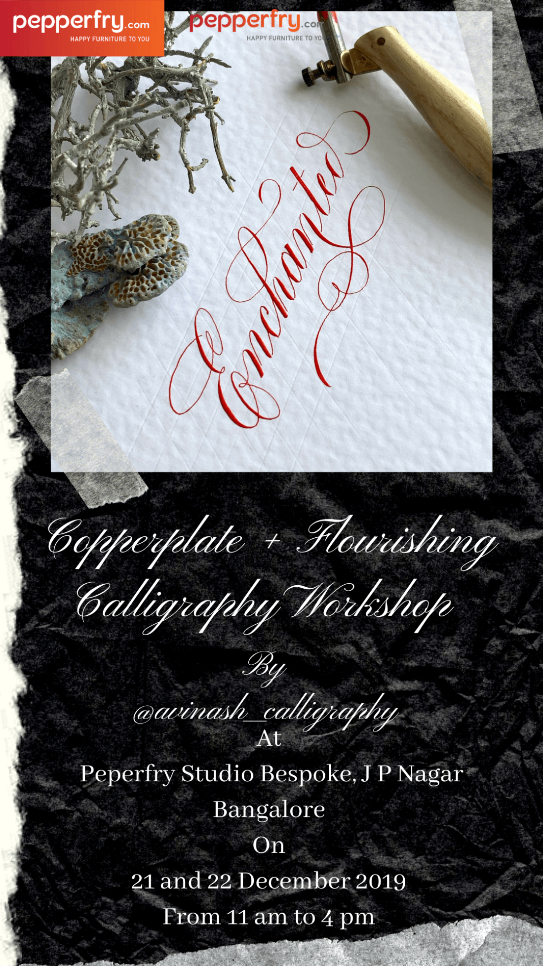 Copperplate Calligraphy plus flourishing workshop