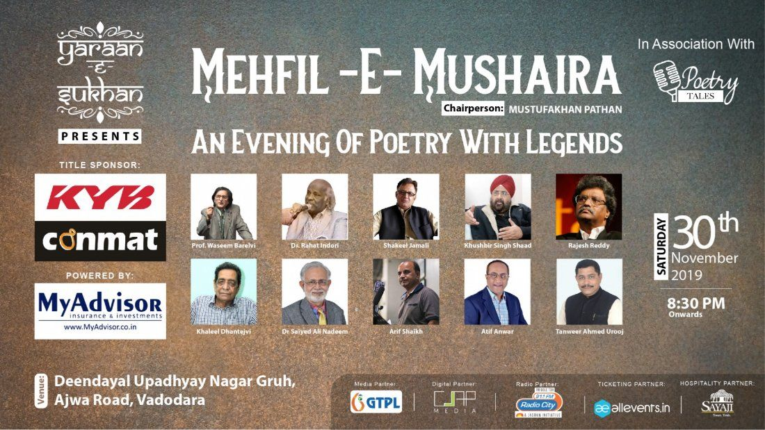 Mehfil-E-Mushaira - An Evening Of Poetry With Legends
