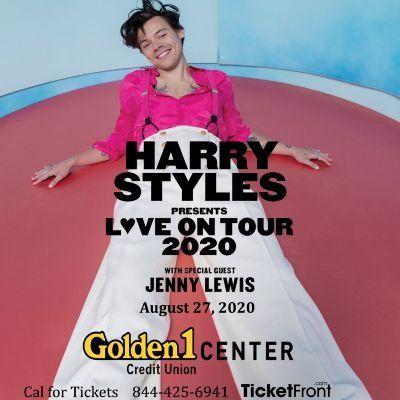 Harry Styles & Jenny Lewis at Golden 1 Center Sacramento CA