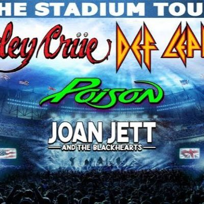 Motley Crue Def Leppard Poison & Joan Jett and The Blackhearts at Miller Park Milwaukee WI