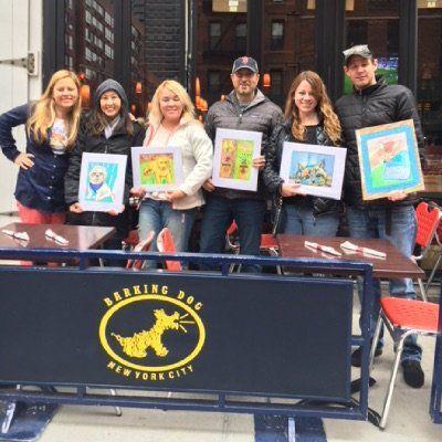 Sip and Paint a Pet Portrait Fun -Barking Dog NEW YORK