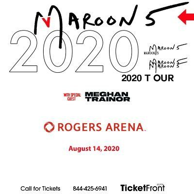 Maroon 5 & Meghan Trainor at Rogers Arena Vancouver BC