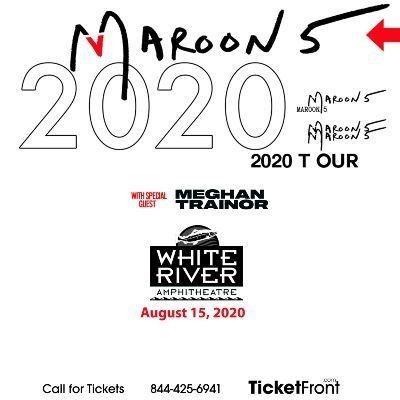 Maroon 5 & Meghan Trainor at White River Amphitheatre Auburn WA