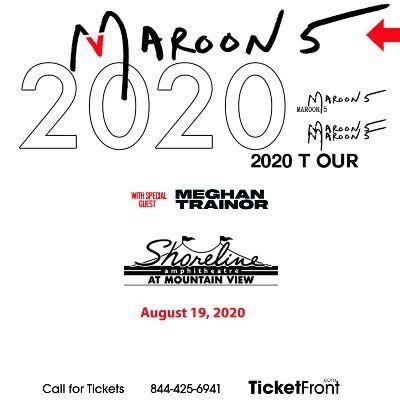Maroon 5 & Meghan Trainor at Shoreline Amphitheatre - CA Mountain View CA