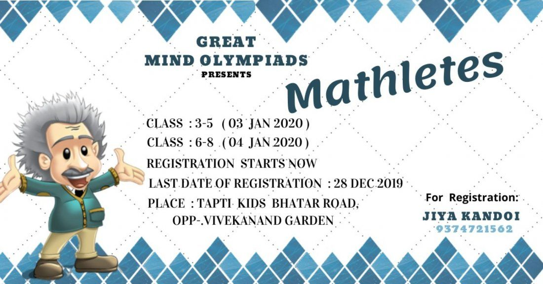 Mathletes ( Math Quiz Event ) For Greate Mind Olympiads