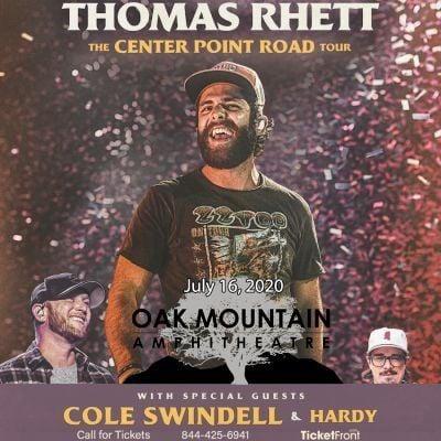 Thomas Rhett & Cole Swindell at Oak Mountain Amphitheatre - AL Birmingham AL