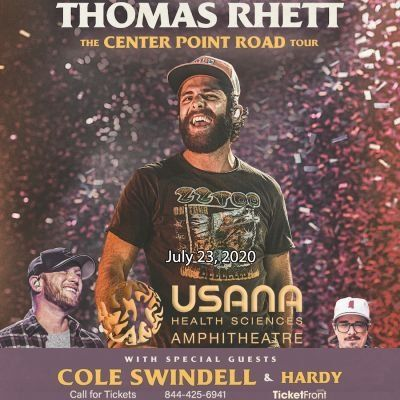 Thomas Rhett & Cole Swindell at USANA Amphitheatre Salt Lake City UT