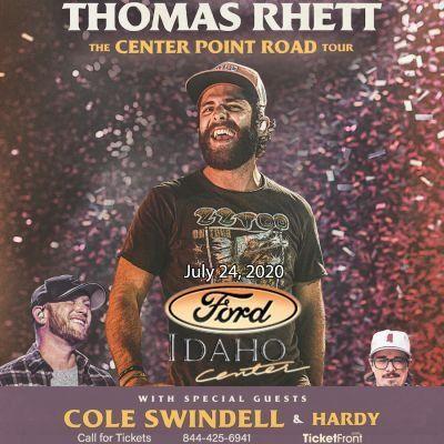 Thomas Rhett & Cole Swindell at Outdoor Amphitheater At Ford Idaho Center Nampa ID