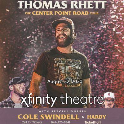 Thomas Rhett & Cole Swindell at Xfinity Theatre Hartford CT