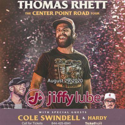 Thomas Rhett & Cole Swindell at Jiffy Lube Live Bristow VA