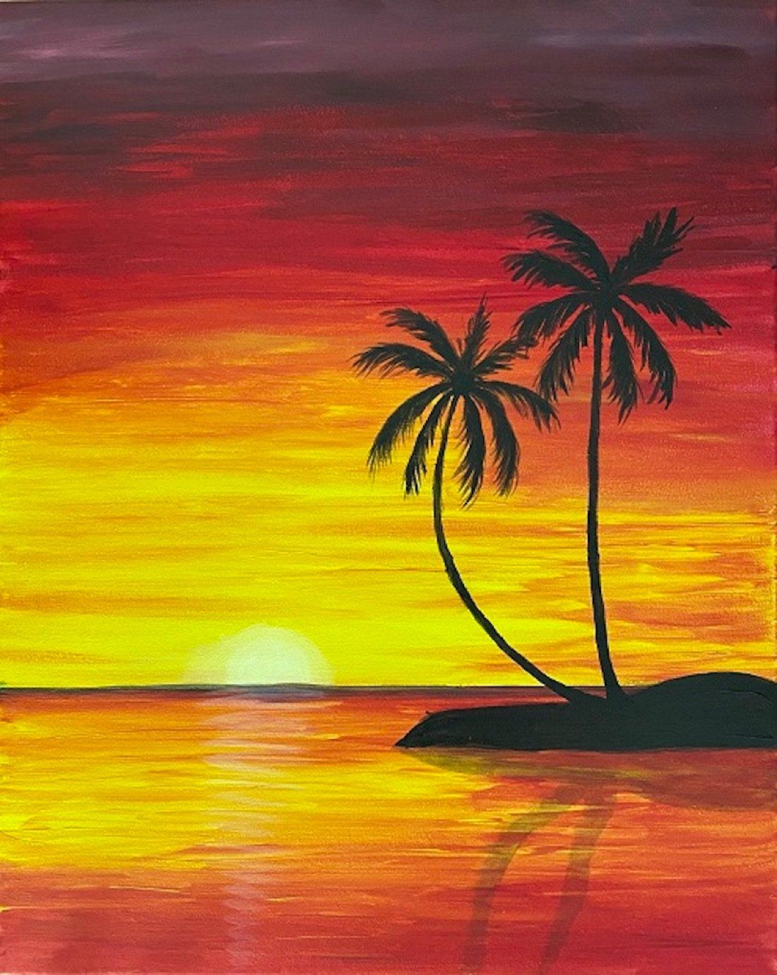 San Diego Best Paint And Sip Class Recreate This Tropical